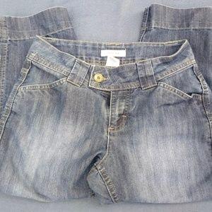 women's Merona blue denim Capri jeans size 6
